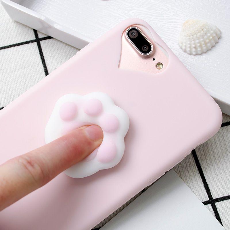 Mode 3D Soft cat cartoon silikon squishy phone Cases für Samsung Galaxy J5 J7 A3 A5 J510 J710 S5 S6 S7 Rand S8 plus S4 coque