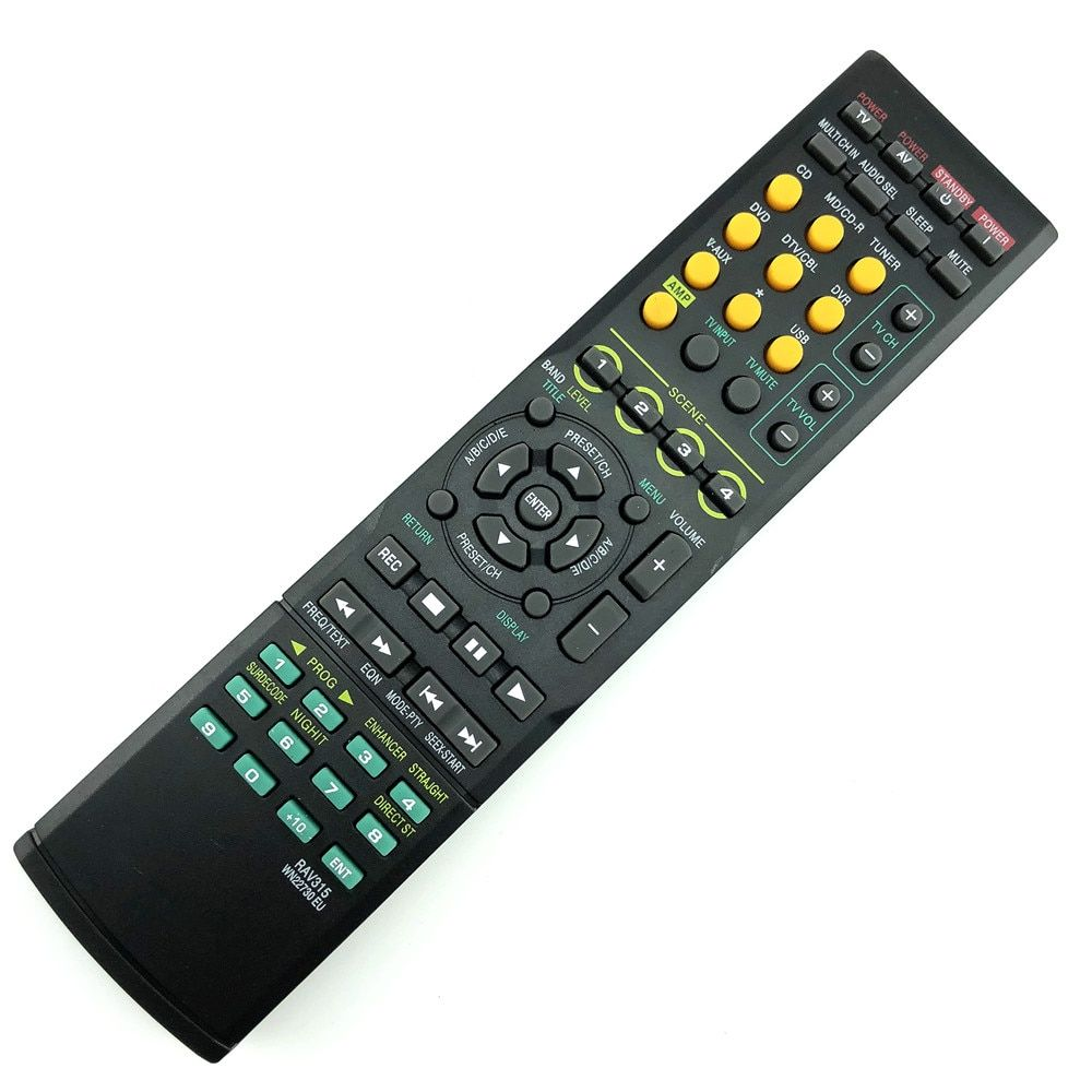 Universal Remote replace remote Control For YAMAHA RAV315 YHT380 WJ409300 HTR-6040 WN22730 HTR-6050 Audio Receiver RX-V450
