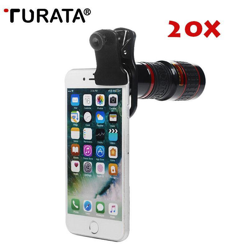 Universel 20X téléphone portable télescope HD téléobjectif externe remplacement Tele lentille optique Zoom téléphone portable caméra Kit d'objectif