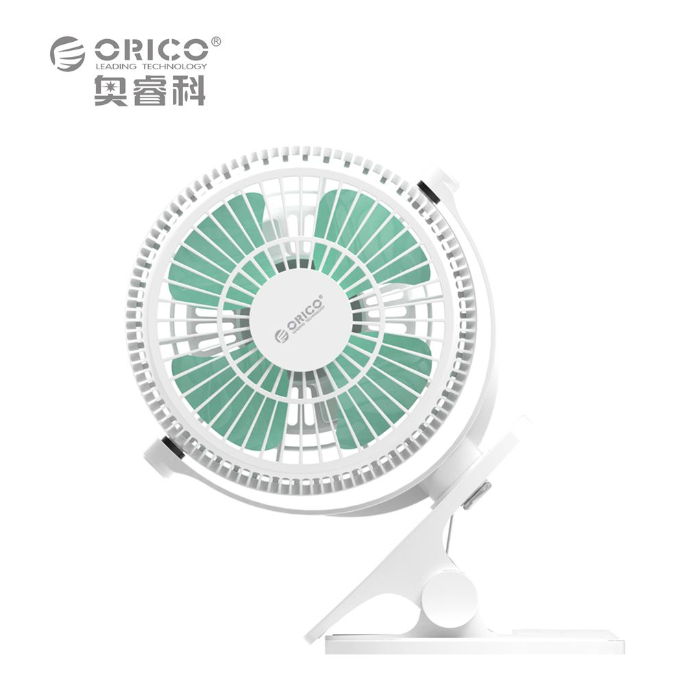 ORICO UF2-WH USB Fan Mini Electrical Fan with Key Switch Angle adjustable  - White