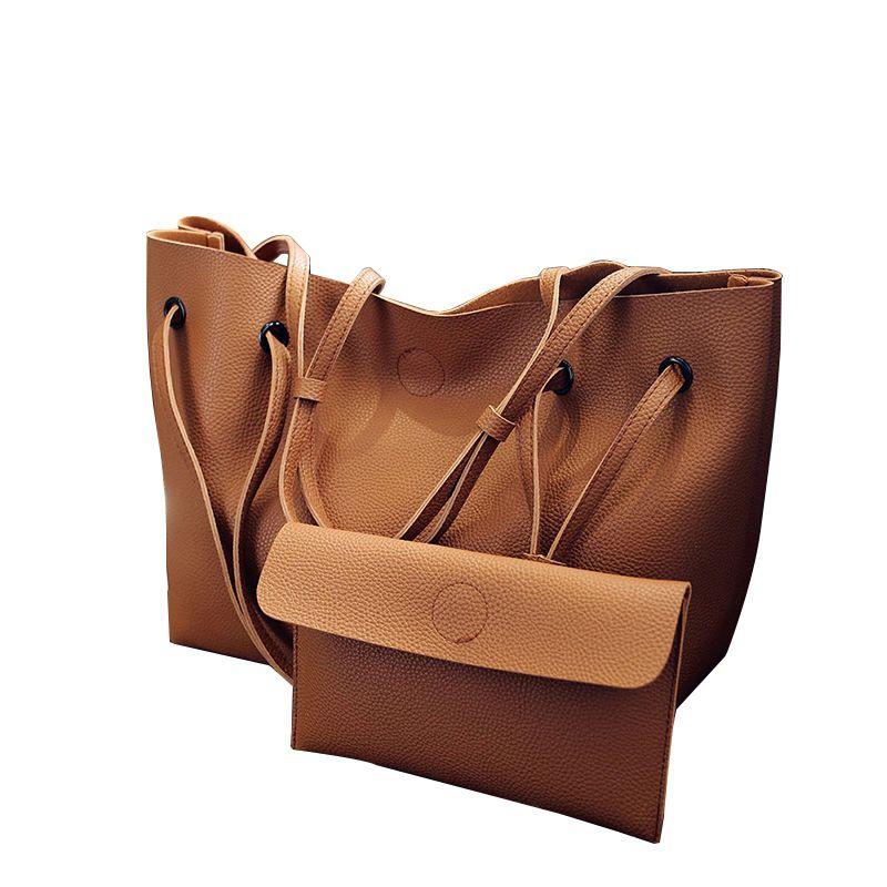 2017 neue casual tote composite-handtasche damen pack hotsale einfache große kapazität frisch frauen umhängetasche