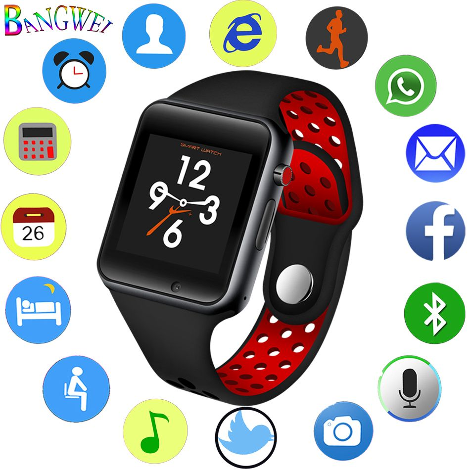 New Smart Watch Men Women Smart Sports Pedometer Support SIM Card For Android Mobile Phone Bluetooth Remote Camera smartwatch