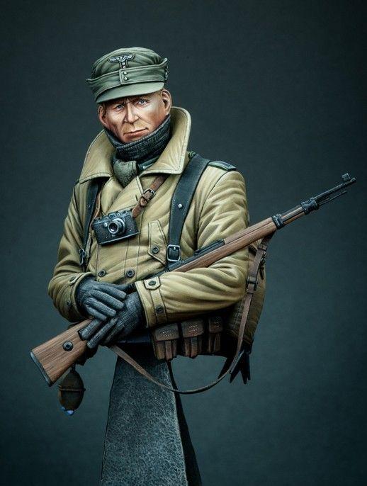Allemande de la SECONDE guerre mondiale des troupes de montagne buste