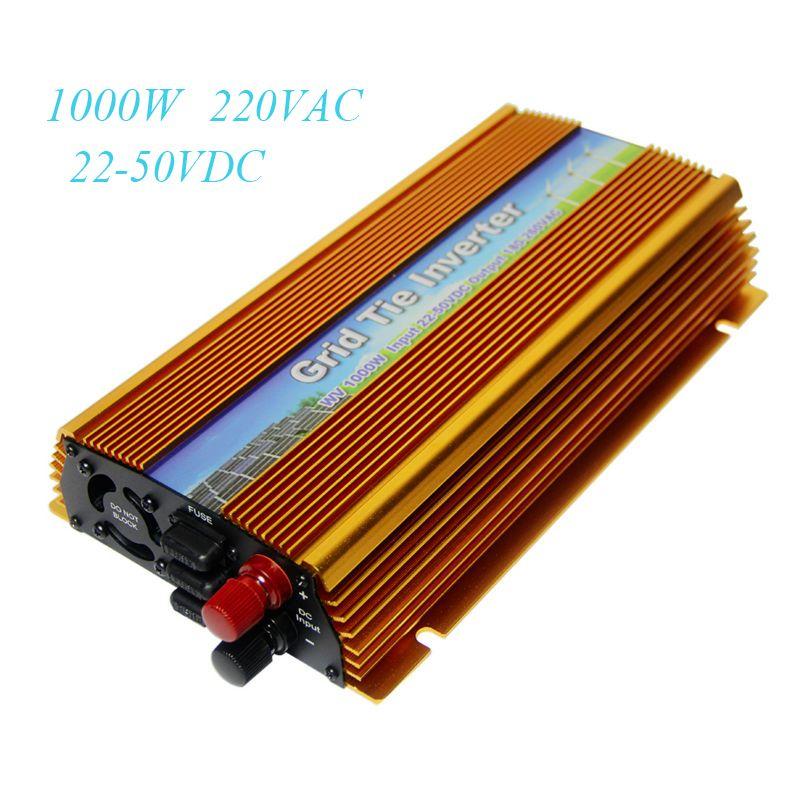 MAYLAR Solar On Grid Tie inverter 1000W DC 22-50V to AC 180-260V MPPT Pure Sine Wave Power Transformer Converter For PV System
