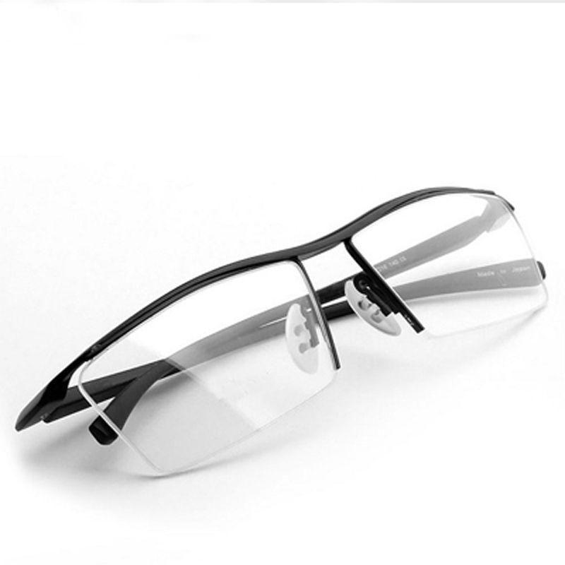 2017 nouveau hommes lunettes cadre titane optique demi-cadre lunettes lunettes carré vintage classique oculos de grau 8189