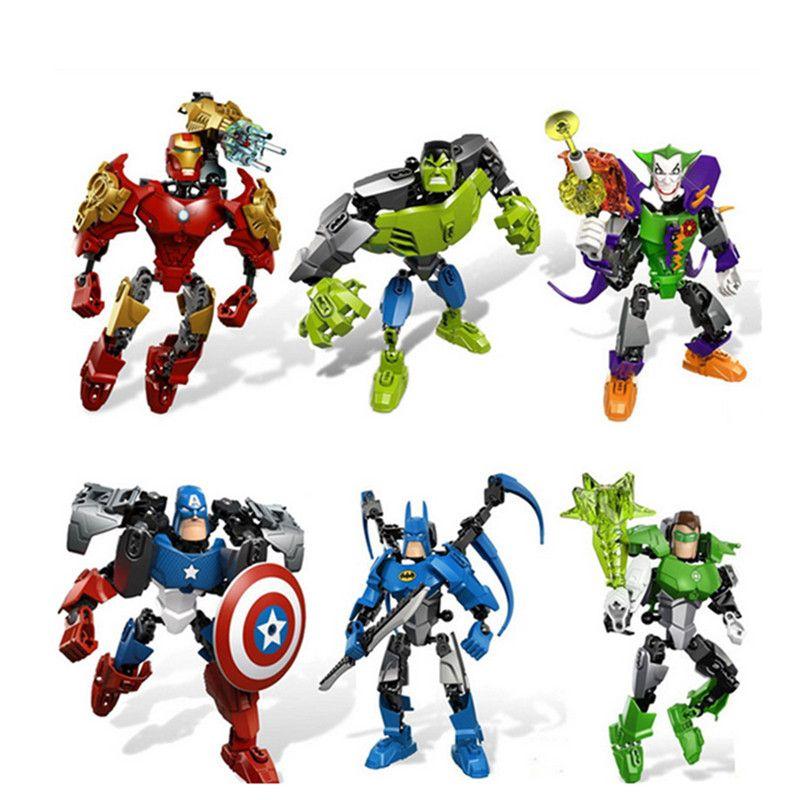 WEYA New 1pcs/Set Super Heroes Marvel Assemble Avengers DC Hulk Captain America Building Blocks Building Blocks Sets Bricks Toys