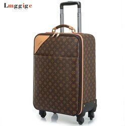 Women Luggage Travel Suitcase Bag with wheels ,Men PVC Commercial Box with Rolling