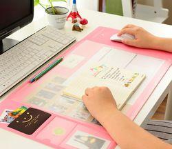 Corée Vente Chaude Kawaii Bonbons Couleur Bureau Tapis Multifonctionnel Planificateur Hebdomadaire Organisateur De Stockage De Table de Bureau Mémo Mat Apprentissage Pad
