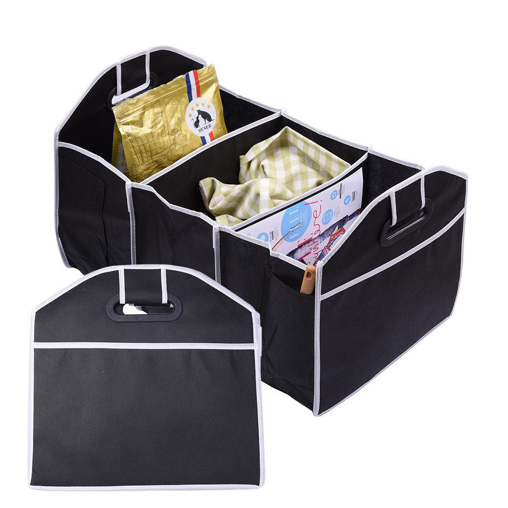 Car Non-Woven Organizer Toys Food Storage Container Bags Box Car Styling Car Stowing Tidying Auto Interior Accessories