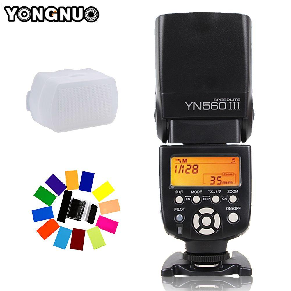 YONGNUO YN560 III YN-560 III YN560III Flash sans fil Speedlite pour Canon Nikon D3200 D3100 D5300 D7200 appareil photo reflex numérique