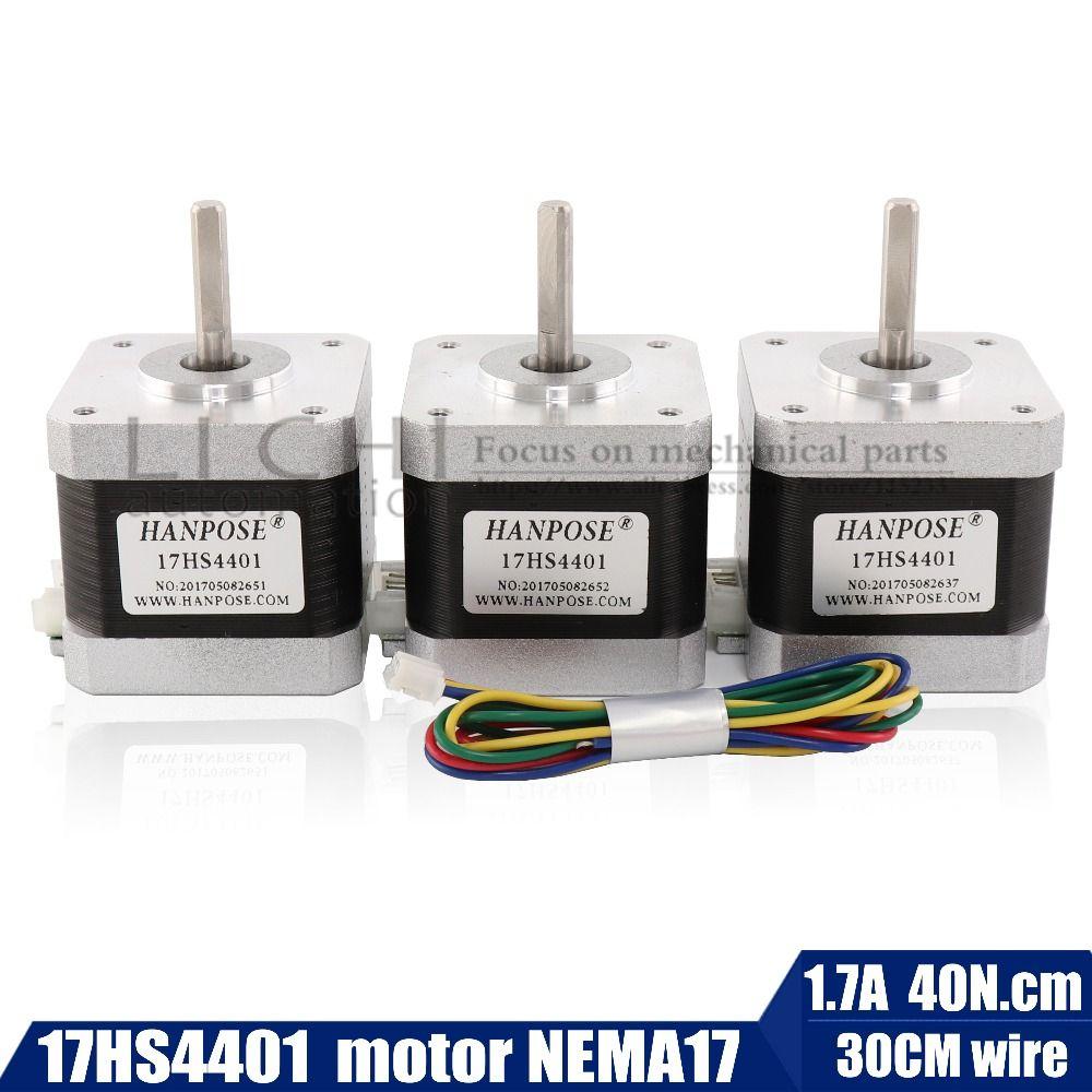 Livraison gratuite 40mm Nema17 moteur pas à pas 42 moteur Nema 17 moteur 42BYGH 1.7A (17HS4401) moteur 4 fils pour imprimante 3D