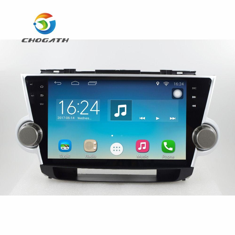 ChoGath 10,2 ''1,6 GHz Quad Core RAM 1G Android 6.1 Auto Navigation GPS-Spieler für Toyota Highlander 2008-2012 ohne Canbus