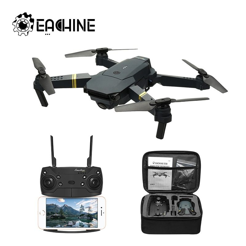 Eachine E58 WIFI FPV With 720P/1080P True Wide Angle HD Camera High Hold Mode Foldable Arm RC Drone Quadcopter RTF VS S9HW M69