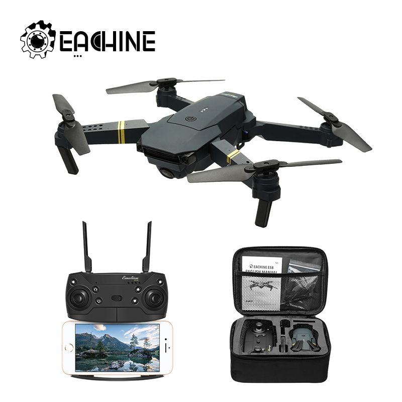 Eachine E58 WIFI FPV avec caméra grand Angle HD Mode de maintien élevé bras pliable Drone RC quadrirotor RTF
