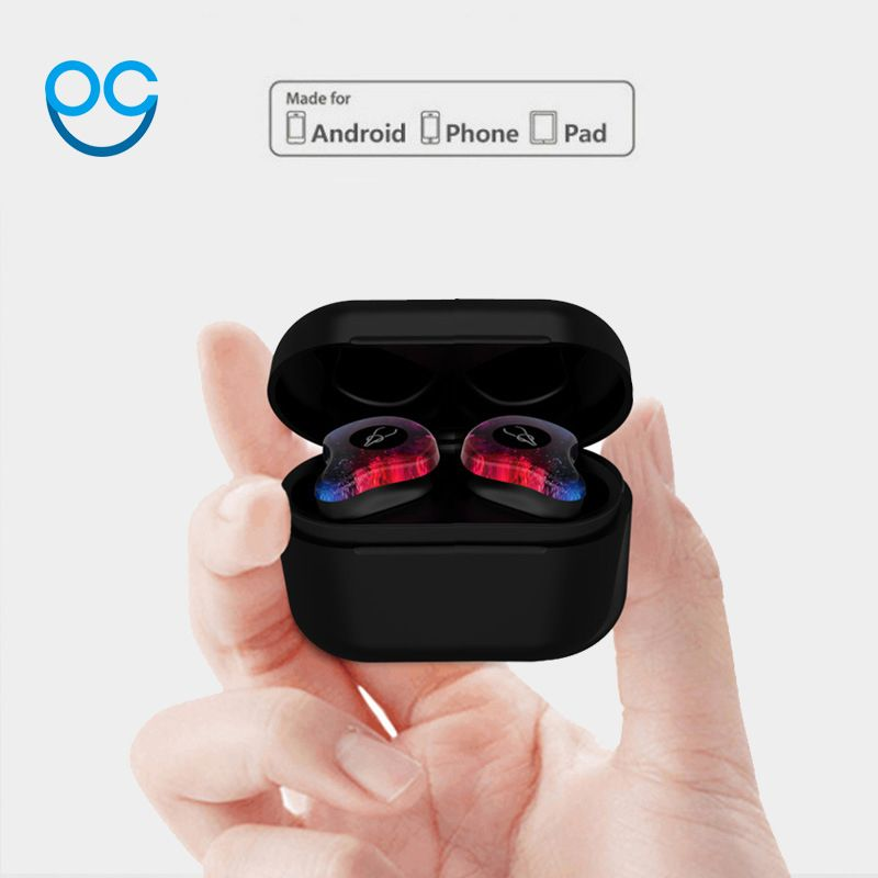 OGV Bluetooth 5.0V 3D Stereo Sound Bluetooth Earphone Invisible True Wireless Waterproof Sport Earbuds with Power Bank For xiaom