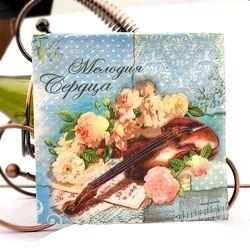 Vintage flor Violines música papel festivo y fiesta servilleta fuente partido decoración papel 33 cm * 33 cm 20 unids/pack/lot
