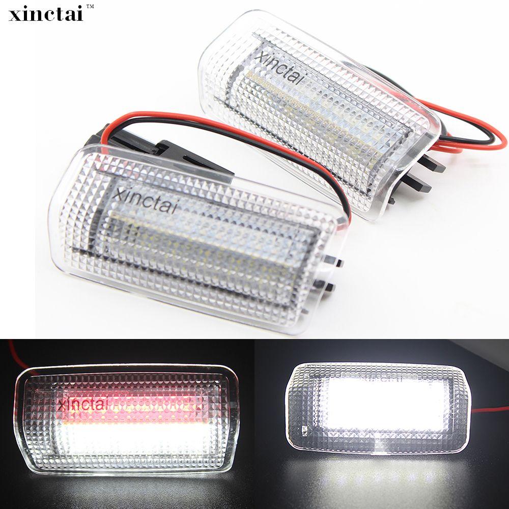 Dual Farbe Weiß + Rote LED Courtesy Tür Licht für Toyota Camry/Isis/4 Runner/Reiz/ sienna/Tundra/Venza für Lexus ES350/LX570/LS600H