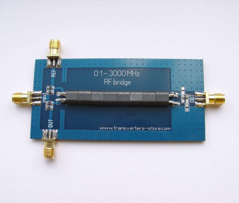 RF SWR Reflection Bridge 0.1-3000 MHZ Antenna Analyzer VHF UHF VSWR return loss