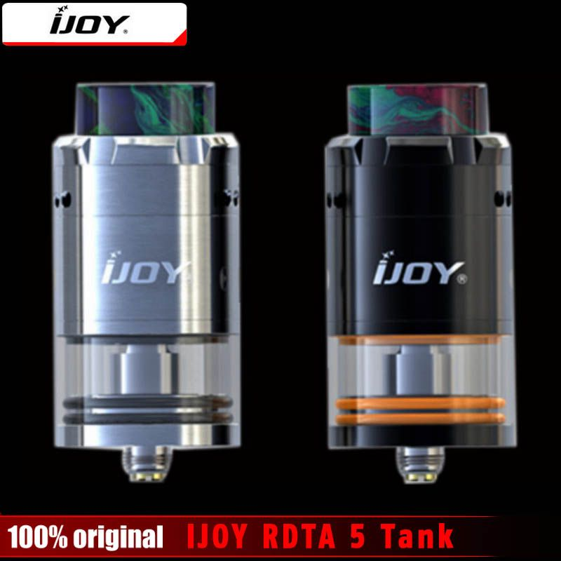 Original IJOY RDTA 5 Tank 4ML Capacity with Resin Drip Tip Single Coil Atomizer Vaporizer For E-Cigarettes Box MOD Vape