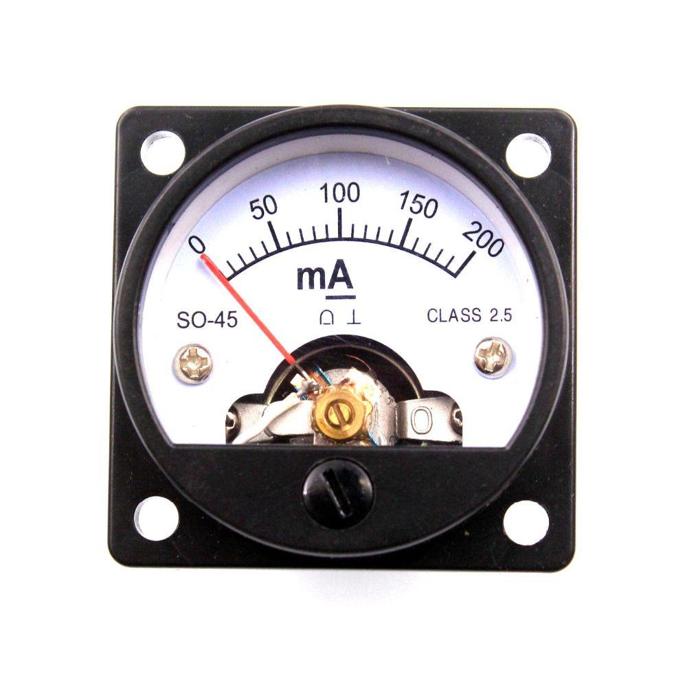 2 stücke 45mm DC200mA Runde Moving Coil Panel Meter Amperemeter für Vintage 2A3 300B 6550 211 KT88 845 Rohr verstärker DIY