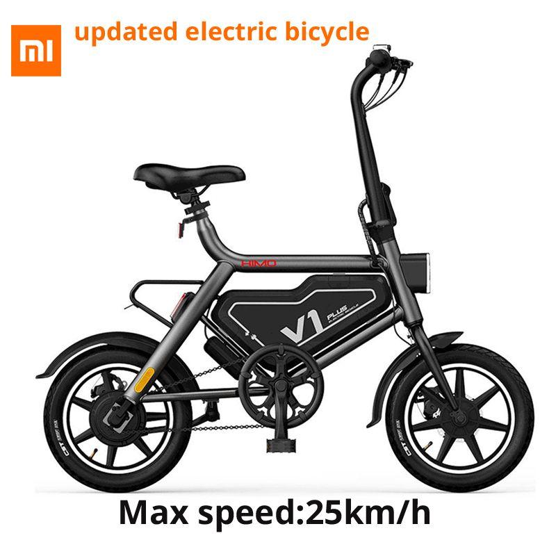 [Kostenloser Duty] Original Xiaomi HIMO V1 Plus Tragbare Falten Elektrische Moped Fahrrad 250 W 60 km Elektrische Moped laufleistung 100 kg kapazität