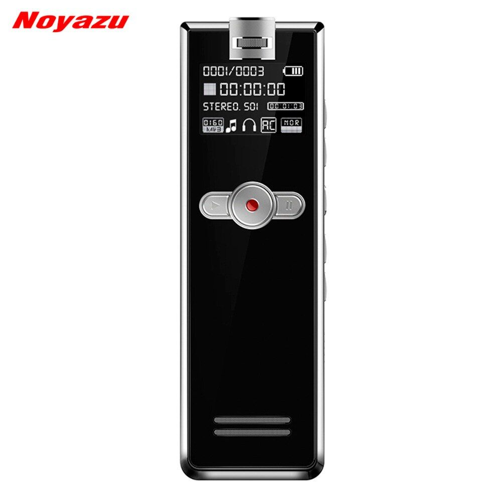 Noyazu F2 16GB Mini Professional Digital Audio Voice Activated Recorder Linear PCM Recorder Devices for Lecture MP3 Player