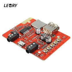 LEORY AUX Loseless Stereo Amplifier Module Wireless Bluetooth Audio Receiver Board USB Headphone Adapter