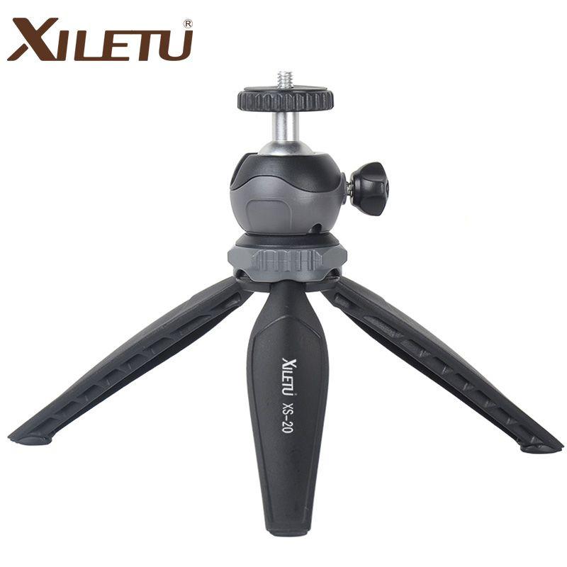 XILETU XS-20 Mini bureau petit support de téléphone trépied de dessus de table pour Vlog appareil photo sans miroir téléphone intelligent avec tête à bille amovible