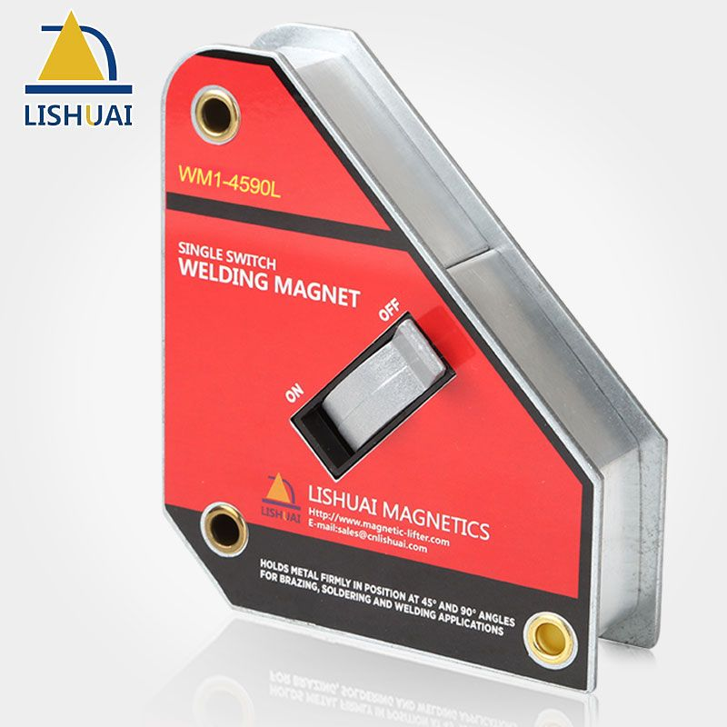 LISHUAI Single Switch Square Welding Magnet NdFeB On/Off Magnetic Welding Holder WM1 Series