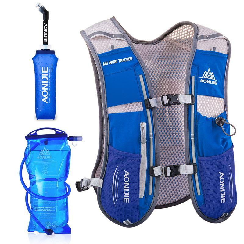 AONIJIE Männer Frauen Laufen Rucksack Outdoor Sport Trail Racing Wandern Marathon Fitness Hydratation Weste Pack 1.5L Tasche 500 ml Wasserkocher