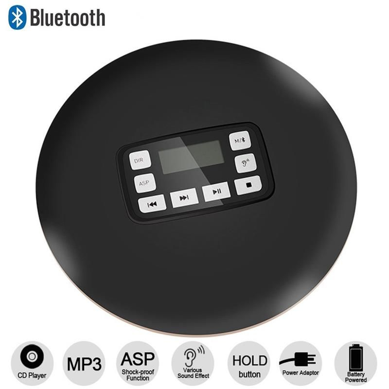 Portable CD Player LCD Display Wireless Bluetooth Stereo Anti-Skip / Shockproof Protection Function Personal CD Music Player