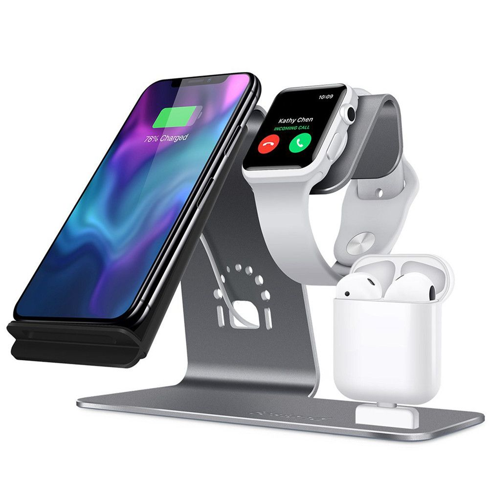 3 in 1 wireless Charging Stand for Apple Watch For AirPods Charging Station Qi Wireless Fast Charger for iPhone X / 8 8plus