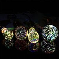 GreenEye Led Bombilla 3D decoración bombilla 220 V 110 V LED Edison bombilla E27 ST64 G80 G95 A60 vacaciones luces novedad lámpara de Navidad