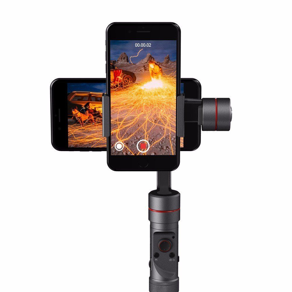 Zhiyun Smooth 3 Handheld 3 Axis Gimbal Stabilizer for Smart Phone under 6 inches and GoPro 3/4/5 Action Camera