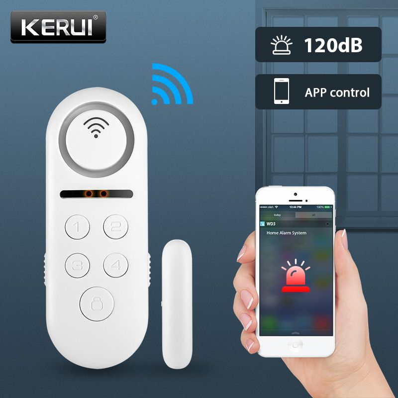 KERUI WIFI Door Alarm System APP Control Home Security Alarm 120dB Window Sensor Password Required Burglar Alert Security System