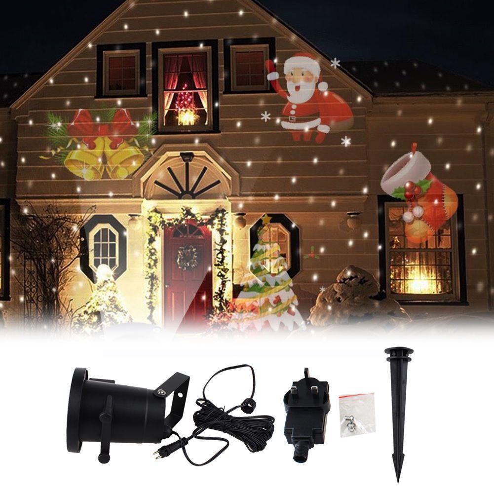 Proyector láser impermeable Lámparas etapa Navidad paisaje jardín lámpara Iluminación de exterior/patrón tarjeta