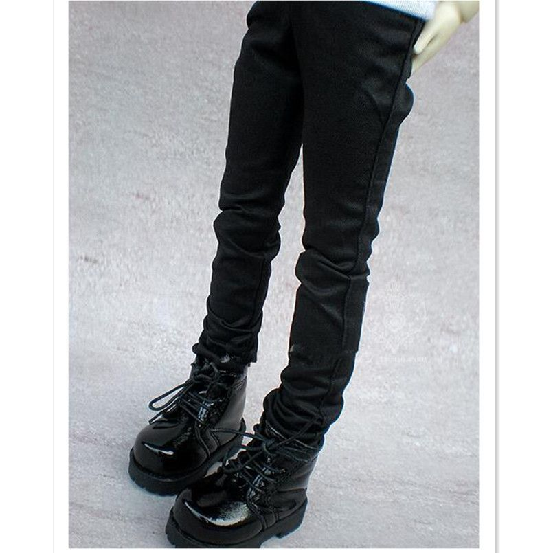 WOWHOT High Quality 1/3 1/4 Scale Male BJD Clothes Black Straight-Leg Pants with Bag For MSD Dolls,BJD / SD Doll Toy Accessories