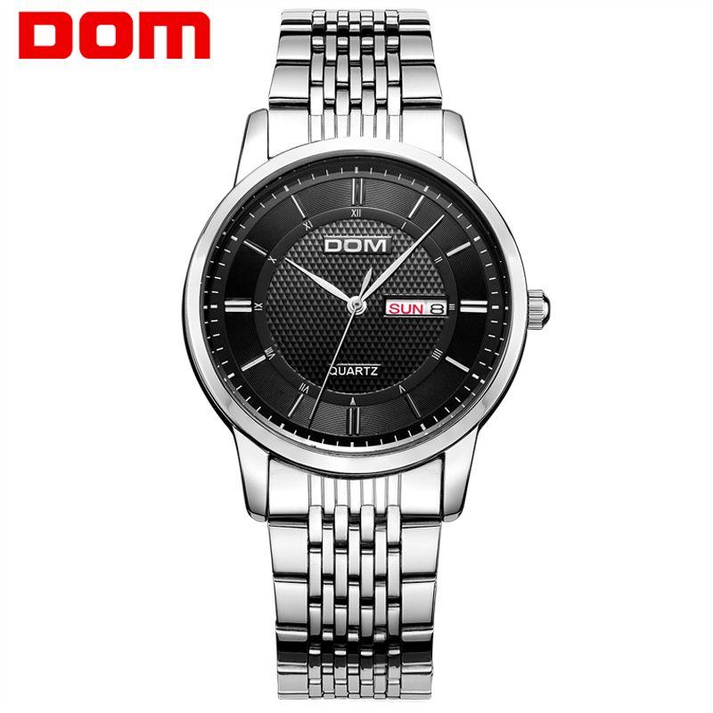 DOM men's watch Top Brand Luxury Quartz Fashion wristwatch Belt Watch Business <font><b>Reloj</b></font> Hombre clock wrist watch for men New 11D