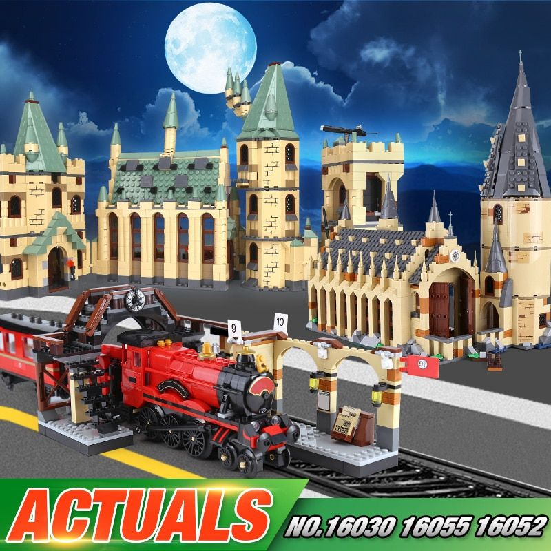 Lepin 16030 16052 16055 16059 Movie Series The 48042 Hogwarts Castle Set Building Blocks Bricks Assembly Kid Christmas Toys