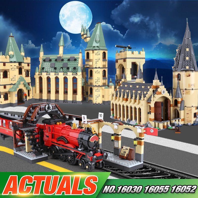Lepin 16030 16052 16055 16059 Movie Series The 48042 Hogwarts Castle Set Building Blocks Bricks Assembly Kid Christmas Toys