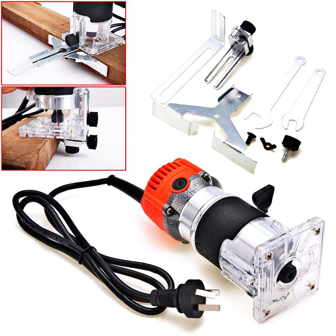 1 satz 1/4 Sammeln Durchmesser Elektrische Hand Trimmer 680/800 watt 220 v Holz Trim Router Holzbearbeitung Laminat palm Router Joiner Werkzeug