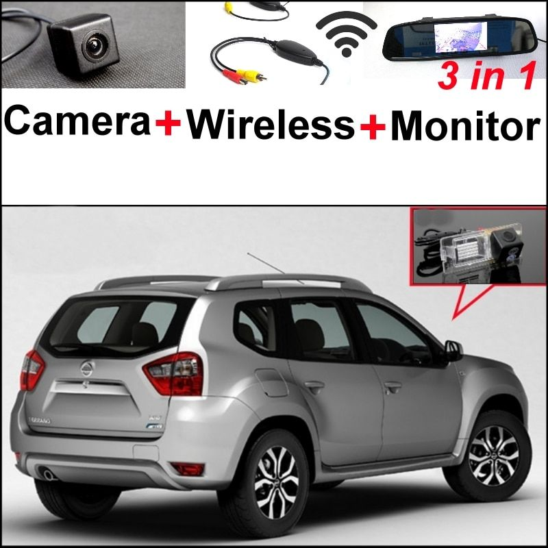 3 in1 Parking System For Nissan Terrano + Special Rear View Wifi Camera + Wireless Receiver + Mirror Monitor Easy DIY Back Up