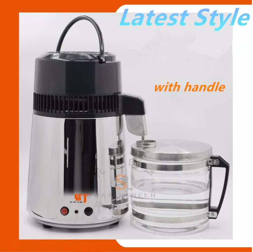 Household Water distiller stainless steel home alcohol disitller water Purifier Electric Dental water distiller glass
