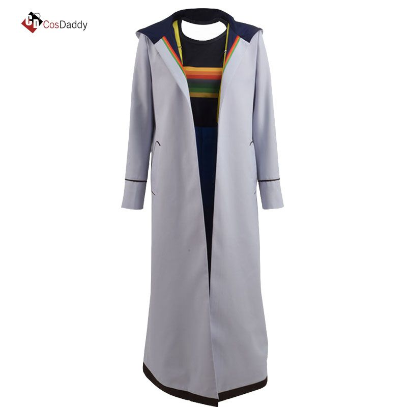 Doctor Who 13 Cosplay Costume Jodie Whittaker Coat outwear popular movie tv Trench pant T-shirt 13th CosDaddy
