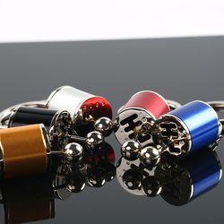 Enam Kecepatan Dapat Dilepaskan Transmisi Perlengkapan Shift Gearshift Tombol Gearbox Gantungan Kunci Gantungan Kunci Gantungan Kunci Keyfob Mini Zinc Paduan Mobil Truk