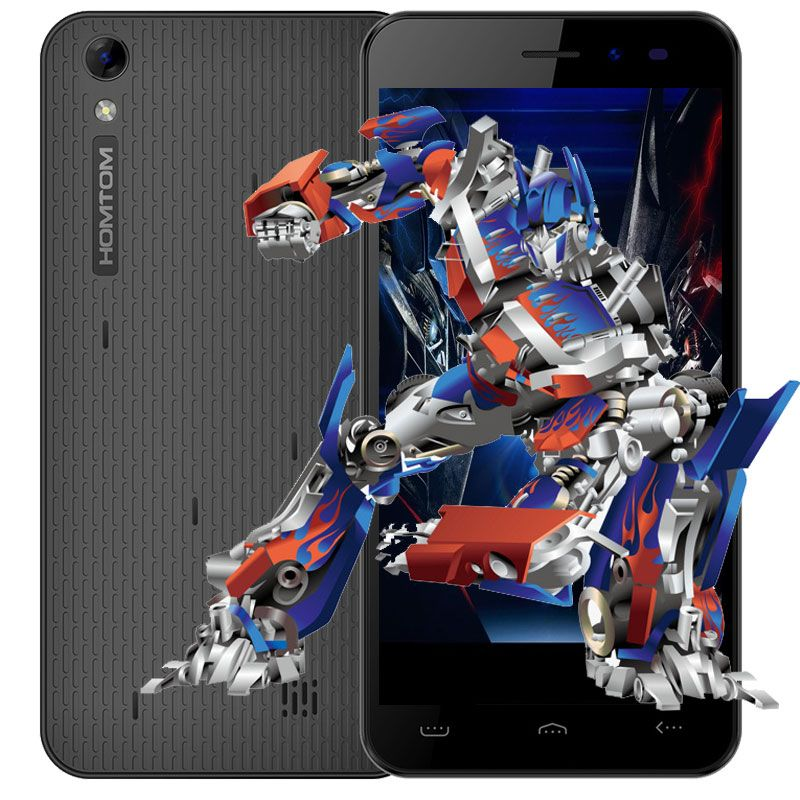Homtom <font><b>HT16</b></font> 5.0 inch Cell Phone Android 6.0 MTK6580 Quad Core 1.3GHz 1GB RAM 8GB ROM 3G Smartphone 8MP Camera Mobile Phone