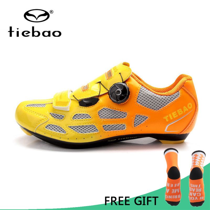 Tiebao Bicycle Cycling Shoes Breathable Men Women Road Bike Racing Athletic Shoes Self-Locking Shoes zapatillas ciclismo