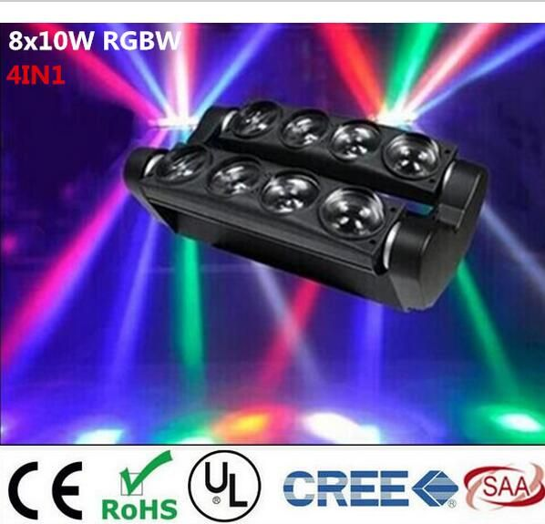 New Moving Head Led Spider Light 8x6W / 8x12W RGBW Led Party Light DJ Lighting Beam Moving Head Light