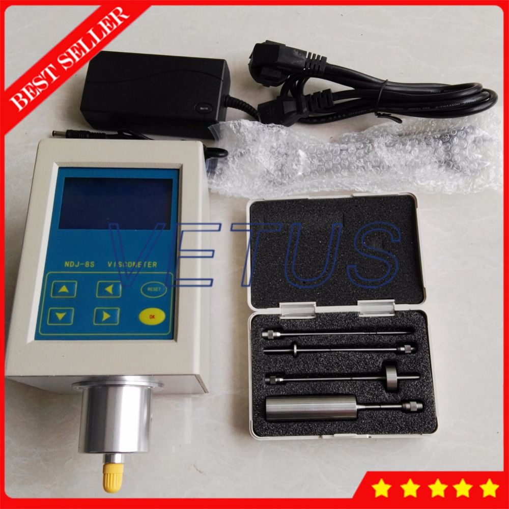 NDJ-8S Portable rotational viscometer for oil paint plastic tester digital Viscosity Meter testing equipment
