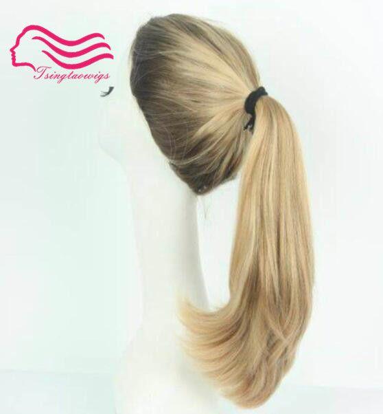 Wonder wig , 100% european remy blonde sports bandfall , Pony wig , unprocess hair (kosher Wig ) free shipping Tsingtaowigs